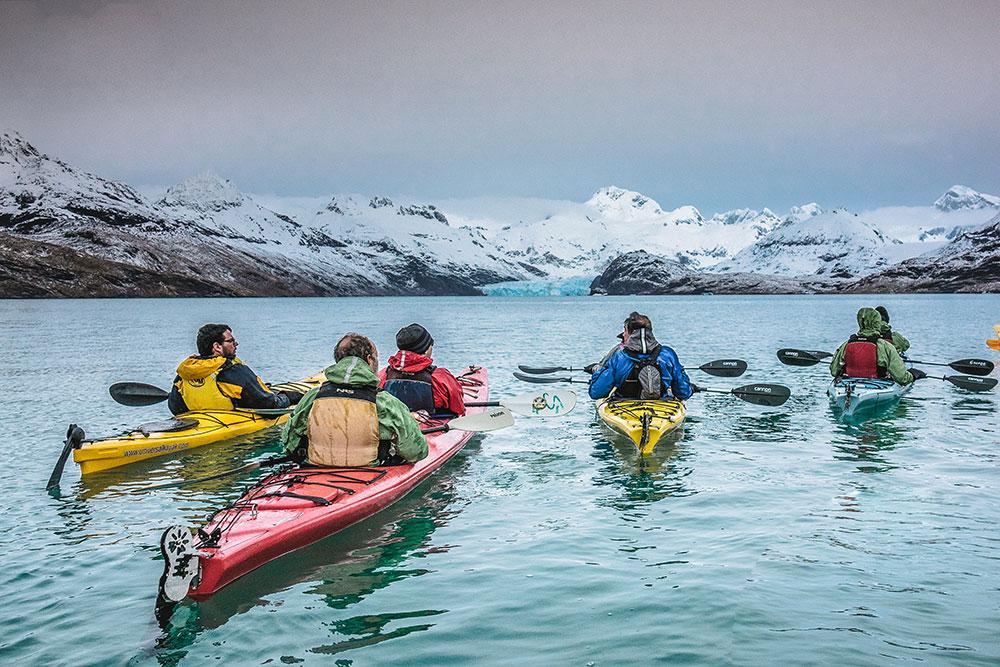 Kayak y ballenas, Punta Arenas